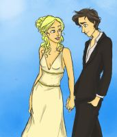 Mr. and Mrs. Percy Jackson by twirkle