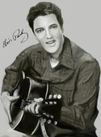 Elvis Presley by kidbrainer