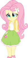 Equestria Girls: Scolded Fluttershy by DeathNyan