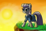 Maud in the sunset by SpectraDash