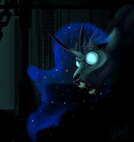 Lonely Princess Luna by BrotugueseViking