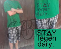 stay legendary light green shirt by Sabre-Art