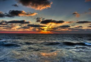 Sunset in Tel-Aviv port by Steve8777
