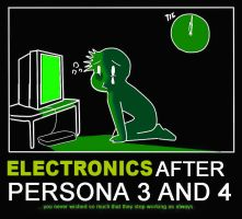 Electronics after Persona 3-4 by OoAmmyoO