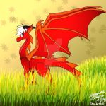 Riot in Dragon Form by StarArt101