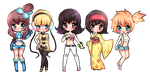 Chibi Gym Leaders by Geegeet