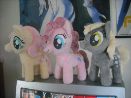 My three newset Pony Plushies by SecludedOtaku