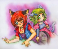 Terojos Demens and Idun by RosaKiddy