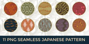 11 PNG Seamless Japanese Pattern by o-yome