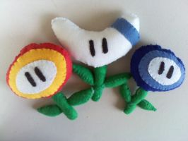 My Mario-World Flowers by mirageant