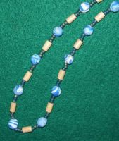 Blue clay necklace by ladytech