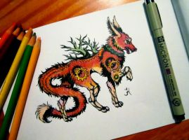 Fantasy/Steampunk Fox Creature Concept by CreativeFelli