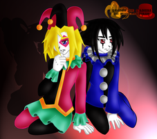 The Pierrot and the Harlequinn by BlackThornRose