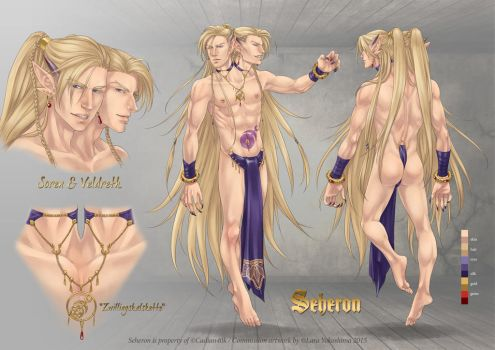 Commission: Seheron -character sheet by LaraYokoshima