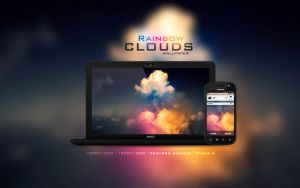 Rainbow Clouds Wallpaper by Martz90