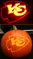 Kansas City Chiefs Pumpkin by johwee