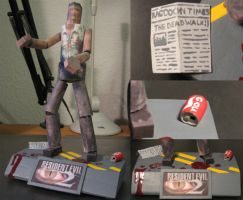 Resident Evil 2 Zombie Papercraft 2 by GoodAsh03