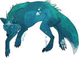 Water Fox by Kdaea