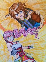 Noel X Serah: Hold my hand by dagga19 by dagga19