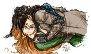 Kili and Tauriel by JeniHudson