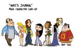 Andi's Journal characters by tombancroft