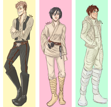 Star Wars AU by viella