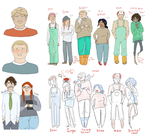 character design sketches by MissHoneyham