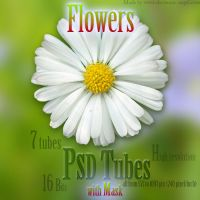PSD Flower tubes with mask by Electronic-Angel