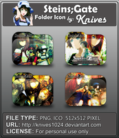 Steins;Gate Anime Folder Icon by Knives by knives1024