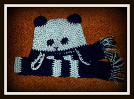 Blue Baby Hat and Scarf by LilithsSmile