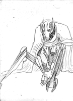 Grievous sketchie -practice- by theREDspy