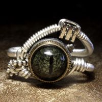 Sable eye steampunk ring by CatherinetteRings