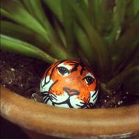 'Carl the Tiger' Ping Pong Ball by HeavyMetalGear