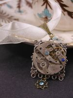 Nautical Blue Steampunk Necklace by GildedGears