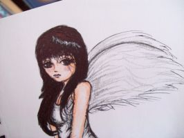 Fallen Angel by pencil-to-papaer