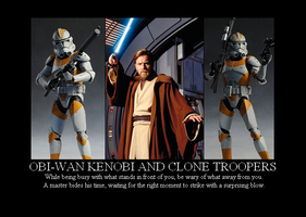 Obi-Wan and Clone Troopers by Winter-Phantom