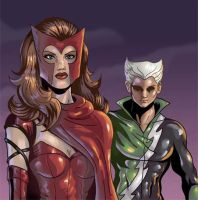 Scarlet Witch and Quicksilver by Serge80