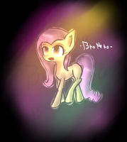 [Sketch] .:Discorded Fluttershy:. by BroNeko