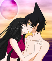 Namida_Ren_sunset_kiss by Verdy-K