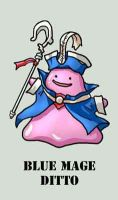 RPG BAAUmon: Blue Mage Ditto by Silvertide