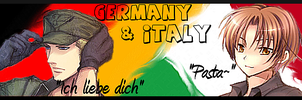Germany and Italy Hetalia Axis Powers Signature by super-fat-man