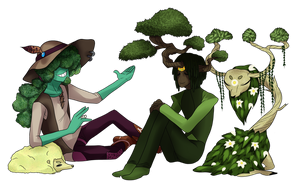 Jeremiah and Bonsai Prince by SlimyScaledSpider