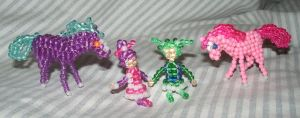 Beaded Horses and Color Kids by Anabiyeni