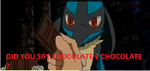 Lucario don't know what's chocolate ... by Edleithen