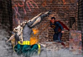 superman vs Doomsday by hiram67