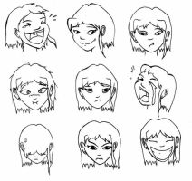 Elie Emotions Lineart by Axixion