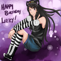 Happy Early Birthday Lizztoons! by SunsetFlareX