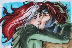 Rogue and Gambit by 3wolFlamE