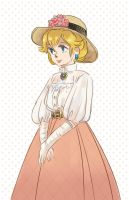 Edwardian Princess Peach by cloverinblue