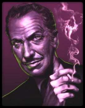 Vincent Price by mightytiki